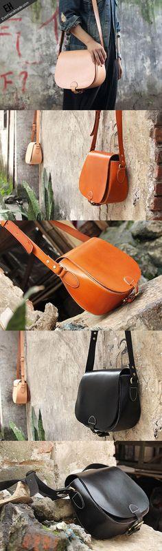 Handmade vintage leather messenger crossbody Shoulder Bag for girl wom   EverHandmade