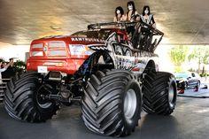 """Orange -Red """"Monster Dodge Ram Truck"""""""