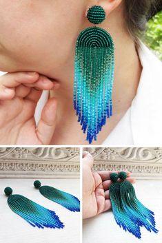 Statement earrings, tassel earrings, Les bonbon earrings #earringshandmade