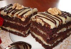 CIASTO Niemiec PYSZNE. Składniki na ciasto: - 1/4 szklanki kakao - 1/2 szklanki gorącej - 25 dkg masła lub margaryny - 2 i 1/4 szklanki cukru - 1... Dessert Drinks, Desserts, Cake Bars, Polish Recipes, How Sweet Eats, Frozen Yogurt, Baked Goods, Food To Make, Cake Recipes