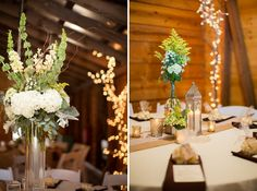 Indoor Wedding Reception Flowers - Yellow, White and Green flowersbyon.com #flowersbyon Claire Diana Photography: Emily & Chad | Wedding | 9 Oaks Farm