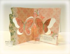 Fran Sabad using the Pop it Ups Butterfly Pivot Die by Karen Burniston for Elizabeth Craft Designs - stampersblog: Venetian Butterflies