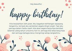 Christian Birthday Greetings, Islamic Birthday Wishes, Birthday Greetings Friend, Happy Birthday Captions, Happy Birthday Love Quotes, Birthday Quotes, Quotes Romantis, Words With Friends, Kaichou Wa Maid Sama