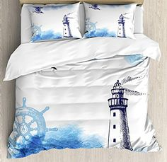 Narwhal Duvet Cover Set Aquarelle Whales With Anchors Marine Biology Illustration Brush Stroke Decorative 4 Piece Bedding Set Suitable For Men And Women Of All Ages In All Seasons Bedding