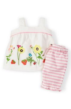 Mini Boden Tank Top & Stripe Pants (Baby Girls) available at #Nordstrom