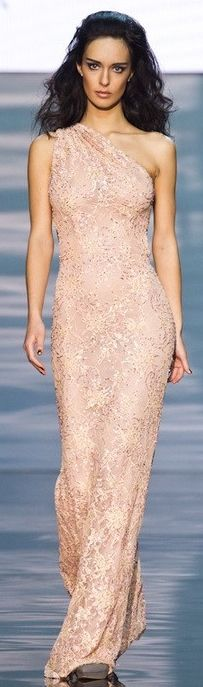 Alexandra Serova  pink gown
