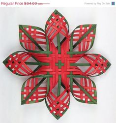 ON SALE Lg Woodland Star Woven Snowflakes Cherokee by Baskauta27, $28.90