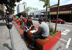 parklet in San Francisco- great creation of public space