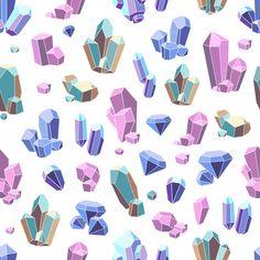 Crystal Illustration, Jewelry Illustration, Illustration Inspiration, Crystal Drawing, Diamond Vector, Crystal Logo, Cute Kawaii Drawings, Crystal Shapes, Crystals Minerals