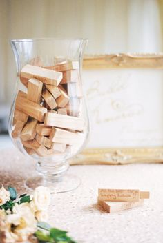 Jenga pieces guestbook: http://www.stylemepretty.com/collection/4306/