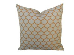 SAMPLE SALE18''X18'' Orange Arbor Pillow Cover by DCorNation, $12.00