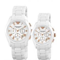 """Buy Emporio Armani AR1417 & AR 1416 Ceramica Couple Watch White Bracelet with White Dial @ lowest price ever on www.voloshopee.com """" Stop Thinking...... Just Shopping """" for more info about this phone click on this link: http://www.voloshopee.com/en/home/14286-emporio-armani-ar1417-ar-1416-ceramica-couple-watch-white-bracelet-with-white-dial.html"""