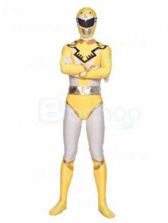Golden And Yellow Spandex Lycra Superhero Costume