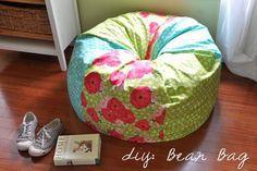Make your own Bean Bag chair...SOMEONE PLEASE TEACH ME TO SEW!! :)