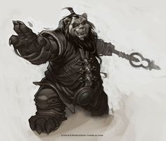 The art of Chris. G Robinson : WoW Pandaren Monk Mists of Pandaria