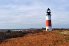 Title Sankaty Head Lighthouse Nantucket In Autumn Colors Artist Marianne Campolongo Medium Photograph - Fine Art Photograph Fall Vacations, Vacation Trips, Day Trips, Vacation Ideas, Vacation Spots, Beach Vacations, Beach Travel, Vacation Rentals, Destinations