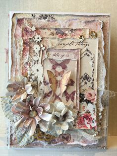 Vintage diy crafts mini albums 39 New Ideas Diy Crafts Vintage, Shabby Chic Cards, Heartfelt Creations, Collage, Pretty Cards, Card Tags, Creative Cards, Flower Cards, Greeting Cards Handmade
