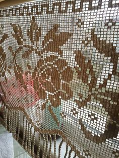 Crochet Curtains, Lace Curtains, Macrame Curtain, Crochet Diagram, Rugs, Home Decor, Crocheting, Tejidos, Petticoats