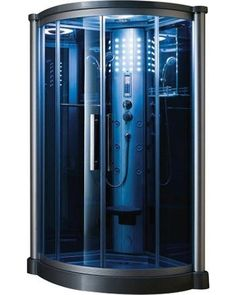 Ariel Ariel Shower Enclosures 40 in. x 40 in. x 85 in. Steam Shower Enclosure Kit in Blue 801L from Home Depot | BHG.com Shop
