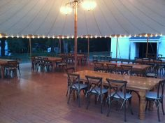 Sperry Tent with Napa Chairs and Farm Tables