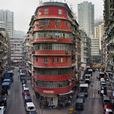 "In ""Hong Kong Corner Houses,"" the internationally renowned German photographer Michael Wolf continues with his visual quest for the overlooked and underappreciated urban phenomena that give a city its. Hong Kong Architecture, Architecture Details, Lee Ho, Hong Kong Building, Michael Wolf, Wolf Photography, Flatiron Building, Corner House, Ghost In The Shell"