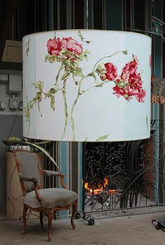 Image detail for -Claire Basler large lamp Looks Vintage, Fabric Wallpaper, French Artists, Whimsical Art, Lampshades, Decoration, Flower Art, Painted Furniture, Art Gallery