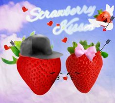 Strawberry love is in the air. Got home and needed to doodle! You know- embrace your inner creative. Welcome to my digital doodles lol #digital #art #media #socialmedia #love #cute #yum
