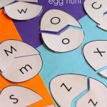 Alphabet Easter Egg Hunt: Uppercase and Lowercase Letter Match Learning Letters, Preschool Learning, Learning Activities, Preschool Activities, Teaching, Letter Activities, Spring Activities, Egg Hunt, Lower Case Letters