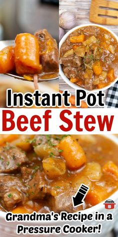 Incredible instant pot recipe for beef stew is a family favorite! It's tender beef, hearty vegetables, and fantastic flavor make this recipe worth keeping and sharing! Try making it for dinner tonight for the classic, hearty beef stew recipe you've loved for years...expect made in less time! Best Slow Cooker, Slow Cooker Recipes, Slower Cooker, Hearty Beef Stew, Beef Stew Meat, Homemade Beef Stew, Dinner Tonight, Instant Pot, Main Dishes
