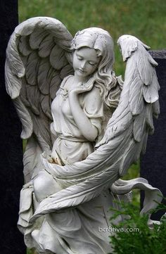 beautiful angel sculpture; Slavin cemetery of Prague, Czech Republic?