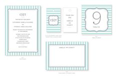 Marry You Me & J. Bartyn Exclusive Free Download: Garden Stripes Invitation Suite in Robin's Egg & Slate