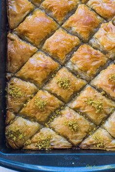Pistachio Baklava with Orange Blossom Simple Syrup – The Little Ferraro Kitchen – berry – arabicsweets Kosher Recipes, Cooking Recipes, Healthy Recipes, Jewish Recipes, Greek Recipes, Delicious Desserts, Dessert Recipes, Greek Desserts, Torte Cake