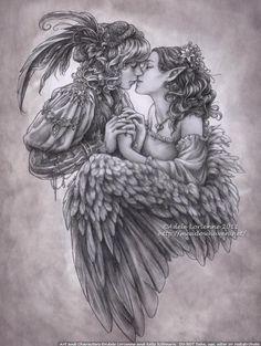 * Illustrations by Adele Lorienne   Cuded  Love has a minstrels voice More @ http://groups.google.com/group/FantasyMagie http://groups.yahoo.com/group/fantasy_forum &  http://www.facebook.com/ComicsFantasy & http://www.facebook.com/groups/ArtandStuff  http://www.meadowhaven.net  http://saimain.deviantart.com  http://www.elfwood.com/~adele  http://society6.com/artist/meadowhaven  http://adelelorienne.tumblr.com  https://twitter.com/Meadowhaven