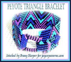 Even Count Peyote Graph | Triangle Peyote bracelet PATTERN by jayceepatterns on Etsy