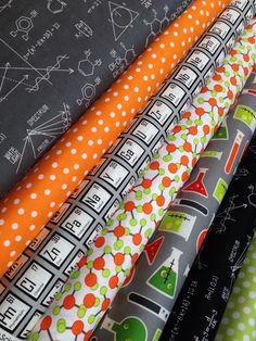 Science Fair Fabric bundle by Illustration Ink for Robert Kaufman Fabrics- 1/2 Yard Bundle, 7 total on Etsy, $35.00