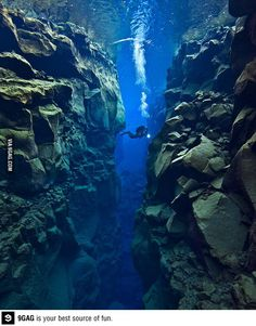 Gap between two tectonic plates, Eurasia and North America