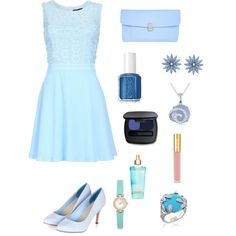 Blue Bells by troixmac on Polyvore featuring polyvore, fashion, style, Chase7, Dorothy Perkins, Ice, Kate Spade, Bling Jewelry, R.J. Graziano, Bare Escentuals, Isaac Mizrahi and Essie