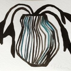 Blue Vase two by Kate Roebuck