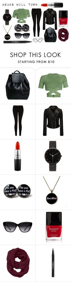 """""""Heads will turn"""" by zaza2000 ❤ liked on Polyvore featuring T By Alexander Wang, Current/Elliott, MAC Cosmetics, I Love Ugly, Elizabeth and James, Butter London, Athleta, Trish McEvoy and Jewel Exclusive"""