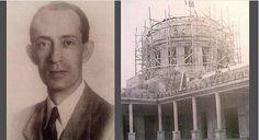 El Arq. Guido D'Alexandro, diseñador y constructor del nuevo Palacio Nacional, nótese la cúpula en construcción.