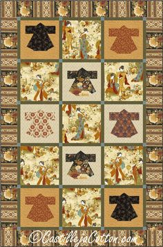 Kyoto Kimonos Quilt ePattern 4782-1 lap quilt by castillejacotton More