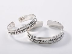 """Black Rules - Elvish Writing Bangle of """"Lord of the Rings"""""""