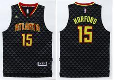 Atlanta Hawks  15 Horford Black Men 2017 New Logo NBA Adidas Jersey Cheap Nba  Jerseys e2afbbd51