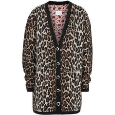 b06e521a62bc9 MAGDA BUTRYM Rochester Leopard-intarsia Cardigan - Size 10 (70.815 RUB) ❤  liked on Polyvore featuring tops, cardigans, cardigan top, leopard print  cardigan ...