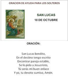 San Lucas, oración de ayuda para los solteros.