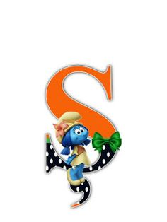 S.T.R.U.M.F.: Litere cu strumfi 2 Math For Kids, Smurfs, Sonic The Hedgehog, Alphabet Letters, Lettering, Numbers, Fonts, Cartoons, Fictional Characters
