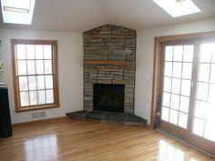 Tile Corner Gas Fireplace … | Pinteres…