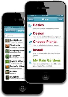 Rain Garden App: a mobile app developed by UConn that will help you design, install, and maintain a rain garden.