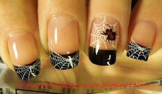Pinned by www.SimpleNailArtTips.com HALLOWEEN NAIL ART DESIGN IDEAS - black-widow-spider-nails Stamping