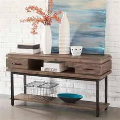 Axis Console Table I Riverside Furniture